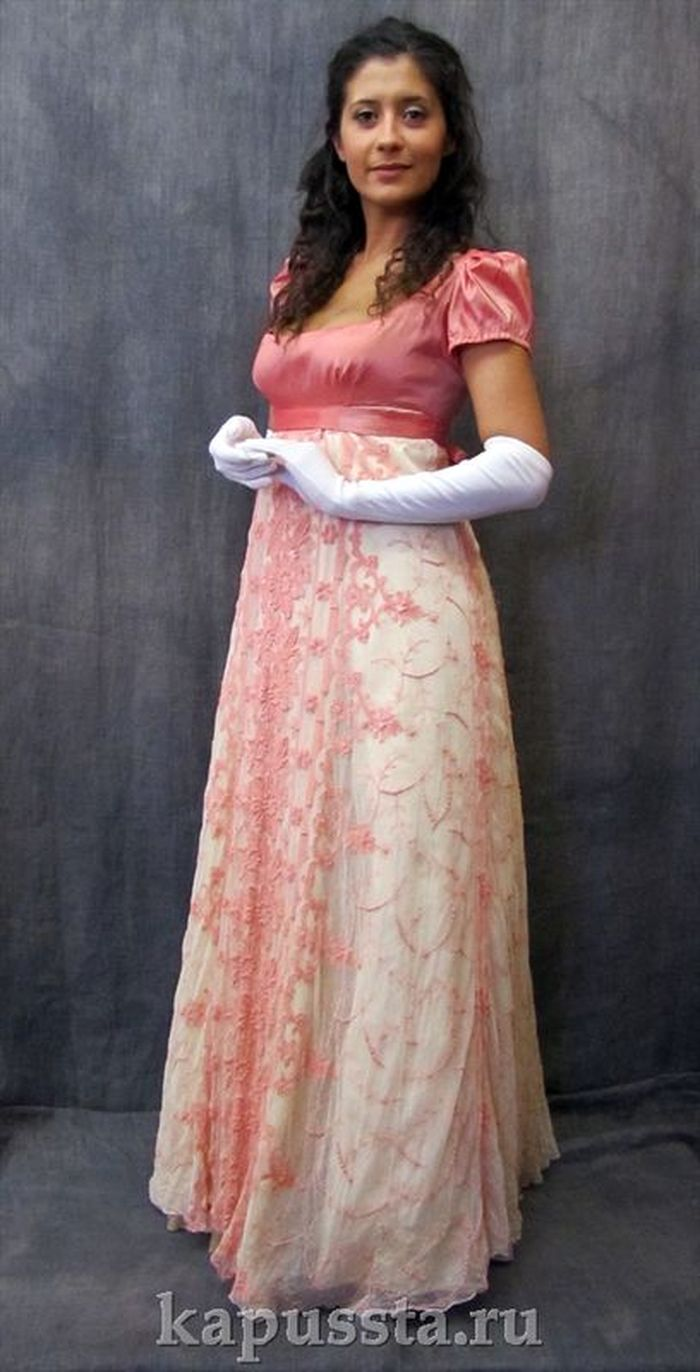 Lace dress with gloves
