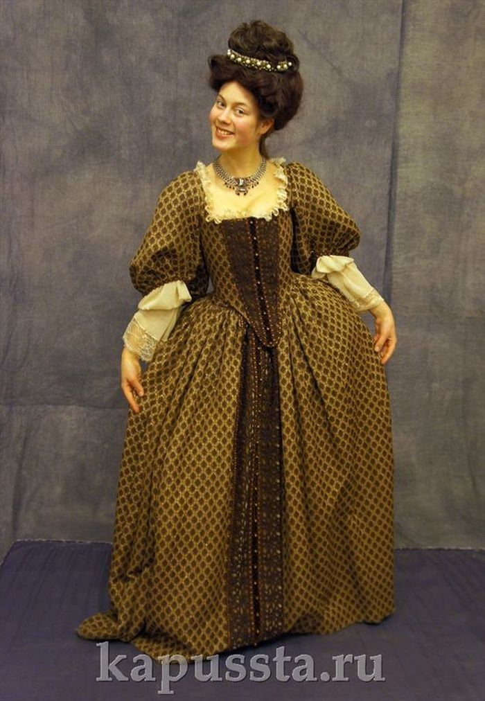The dress is baroque brown