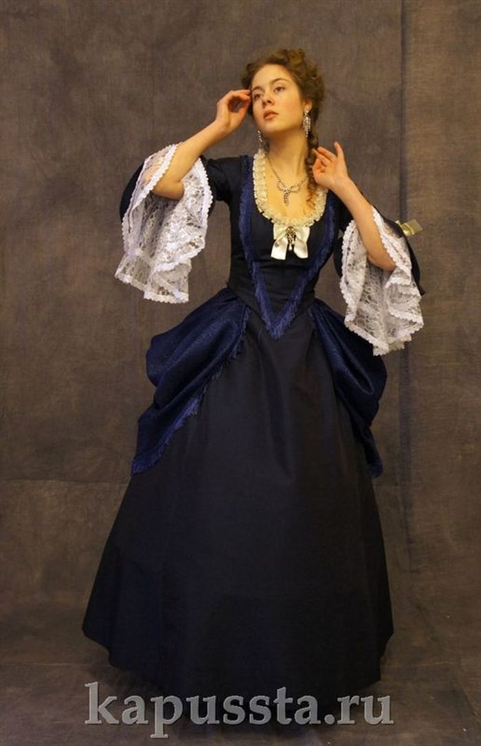 Blue dress of the 19th century