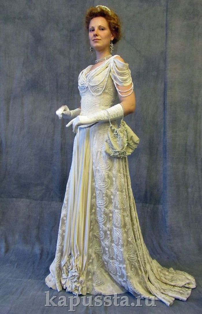 Ball gown with pearls